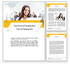 People: Business Woman Word Template #11108
