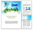Art & Entertainment: Gras En Lucht Word Template #11123