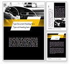 Cars/Transportation: Driving a Car Word Template #11131