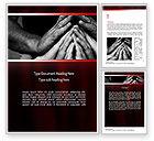 Religious/Spiritual: Family Praying Word Template #11147