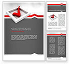 Education & Training: Red Check Mark Word Template #11153