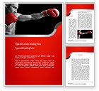 Sports: Kickboxer Word Template #11156