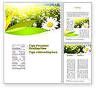 Nature & Environment: Ox-eye Daisy Camomile Word Template #11157