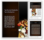 Food & Beverage: Plenty of Food Word Template #11166