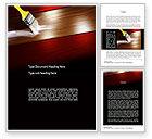 Careers/Industry: Painting Wood Floor Word Template #11173