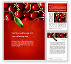 Agriculture and Animals: Cherries Word Template #11181