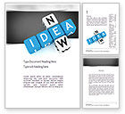 Business Concepts: New Idea Crossword Word Template #11192