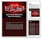 Holiday/Special Occasion: I Love You Word Template #11213