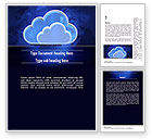 Technology, Science & Computers: Cloud Technology Services Word Template #11223