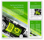 Technology, Science & Computers: Green Energy Battery Word Template #11224