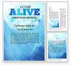Religious/Spiritual: Come Alive Word Template #11233