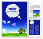 Nature & Environment: Tree on Horizon Word Template #11239