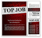 Careers/Industry: Top Job Word Template #11243