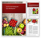 Food & Beverage: Fruit and Veg Word Template #11252