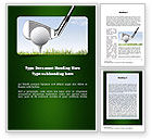 Sports: Golf Tournament Word Template #11259