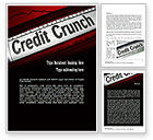 Financial/Accounting: 信用危机头条Word模板 #11263
