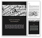 Financial/Accounting: Great Recession Word Template #11266