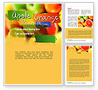 Food & Beverage: Vivid Fruits Word Template #11279