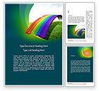 Education & Training: Rainbow Bridge Word Template #11287