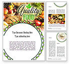Food & Beverage: Quality Food Word Template #11288