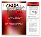 Holiday/Special Occasion: Labor Day Word Cloud Word Template #11292