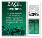 Education & Training: Welcome Back To School Word Template #11293