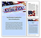 Holiday/Special Occasion: Happy Labor Day Word Template #11300