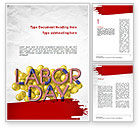 Holiday/Special Occasion: 3D Labor Day Word Template #11302