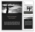 Religious/Spiritual: Jesus Cross Word Template #11321