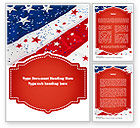 Holiday/Special Occasion: Festive American Flag Word Template #11323