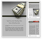 Financial/Accounting: Pile of Money Word Template #11327