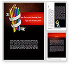 Education & Training: Bunch of Colored Pencils Word Template #11332