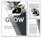 Business Concepts: Sprout In Careful Hands Word Template #11340