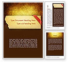 Holiday/Special Occasion: Paper with Red Ribbon Word Template #11352