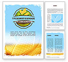 Agriculture and Animals: Modello Word - Tema di mais #11358