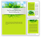 Nature & Environment: Bunch of Green Leaves Word Template #11374