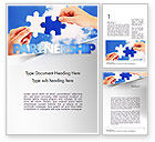 Business Concepts: Partnership Solutions Word Template #11386