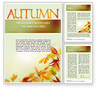 Nature & Environment: Falling Leaves Theme Word Template #11387