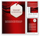 Abstract/Textures: Golden Stars on Red Word Template #11406