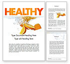 Food & Beverage: Orange Splash in Water Word Template #11407