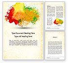Art & Entertainment: Colorful Watercolor Stains Word Template #11414