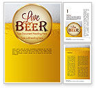 Food & Beverage: Beer Theme Word Template #11422