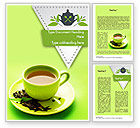 Food & Beverage: Green Tea Cup Word Template #11431