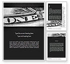 Financial/Accounting: One Dollar Word Template #11439