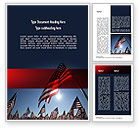America: Large Group of American Flags Word Template #11444