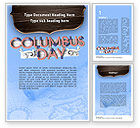 Holiday/Special Occasion: Columbus Day Theme Word Template #11452