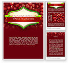 Food & Beverage: Pomegranate Seeds Word Template #11454