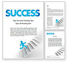 Careers/Industry: Running Upstairs Word Template #11458