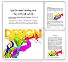 Art & Entertainment: Color Paint Splash Word Template #11460