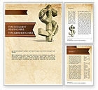 Financial/Accounting: Dollar Sign Word Template #11464